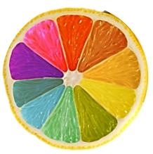 лимон цветной